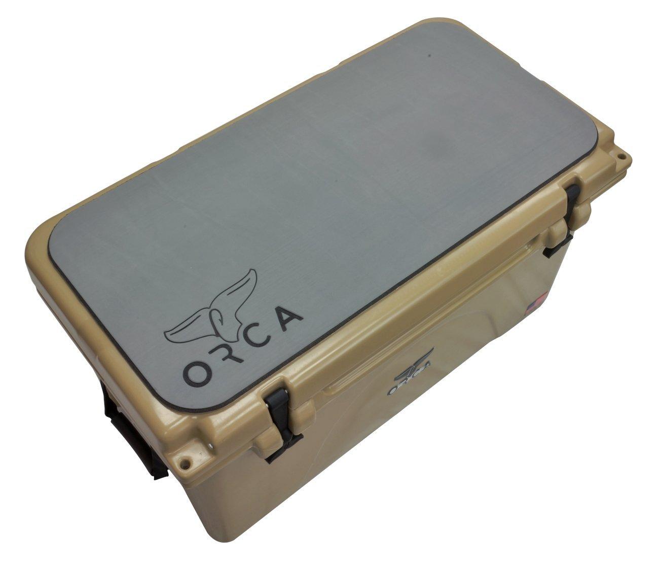 Grey ORCA ORCGSRP75 Slip Resistant Pad for a 75 quart Cooler
