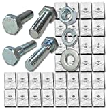 Metric Class 10.9 Hex Cap Screws Bolts, Nuts, & Washers Assortment Kit - 574 Pieces!