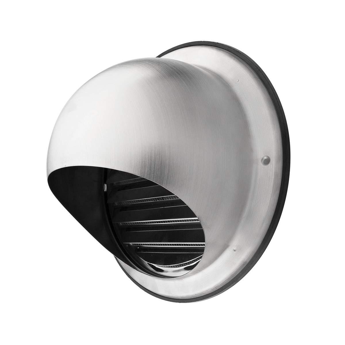 Klimapartner KWG 100 - Indoor & Outdoor Stainless Steel Round Ventilation Grill Screen Hood