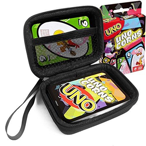 FitSand Hard Case for Uno Unocorns Card Game Travel Zipper Carry EVA Hard Box