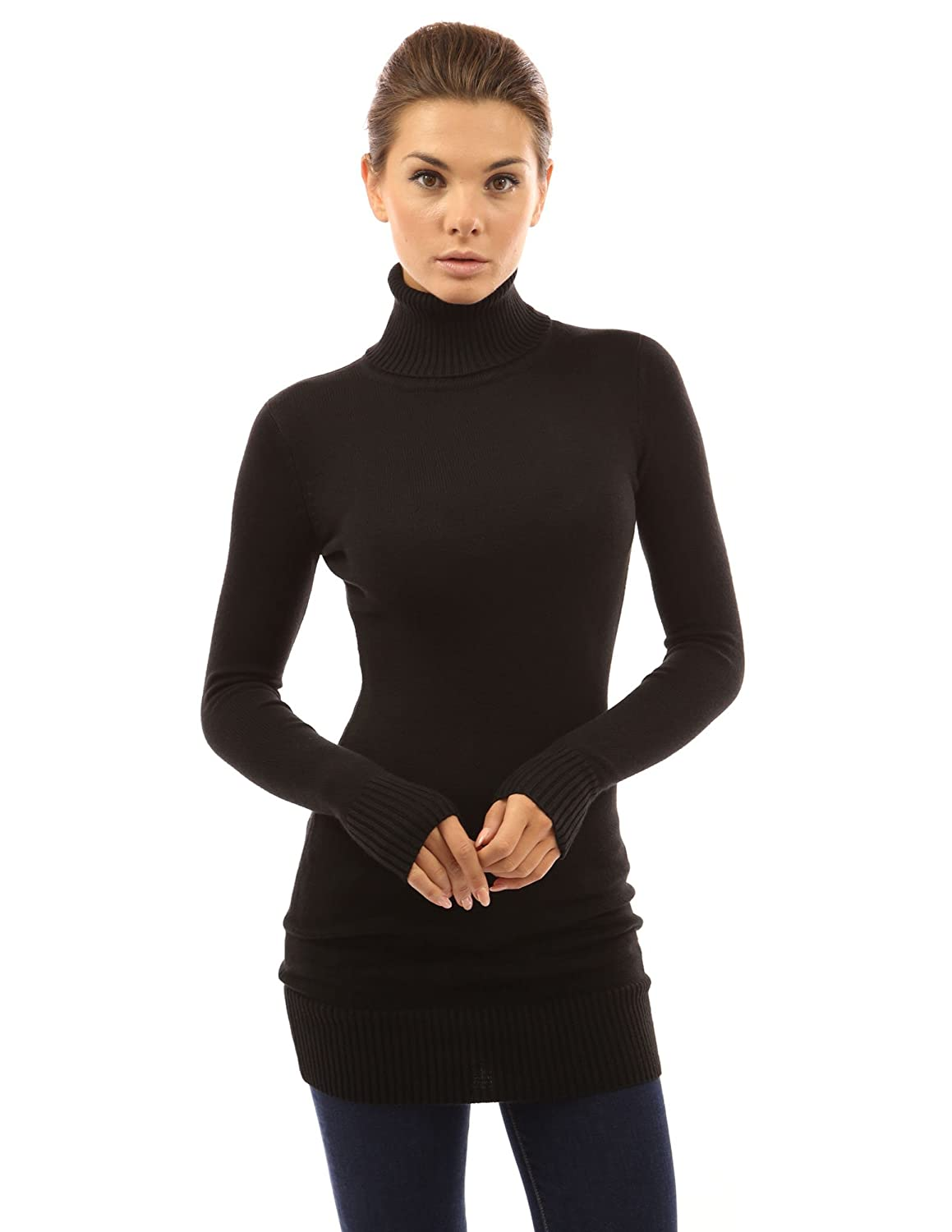 PattyBoutik Women's Turtleneck Long Sleeve Sweater at Amazon ...