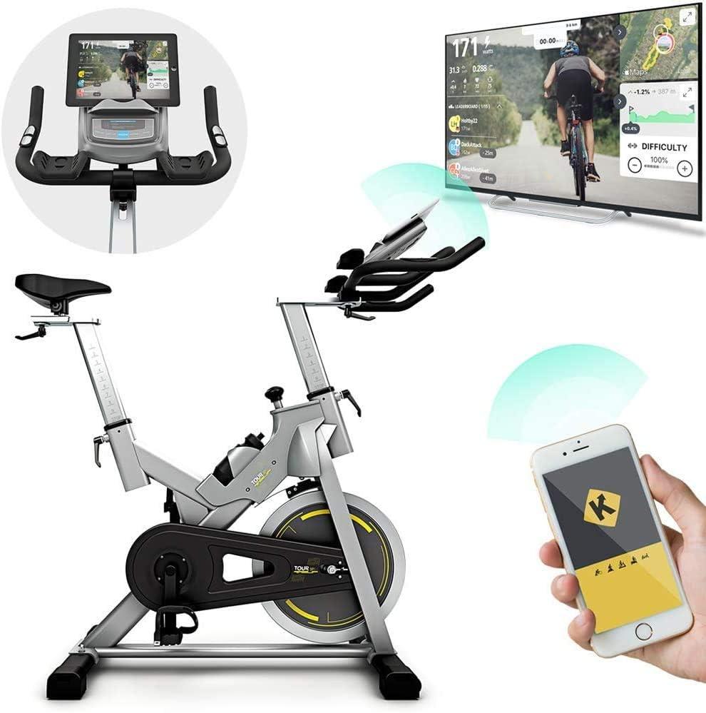 Bluefin Fitness Bicicleta Tour SP | Kinomap | Video Coaching y Entrenamiento | Bluetooth | App Smartphone/Negra y Plata Product ID: 716053151018
