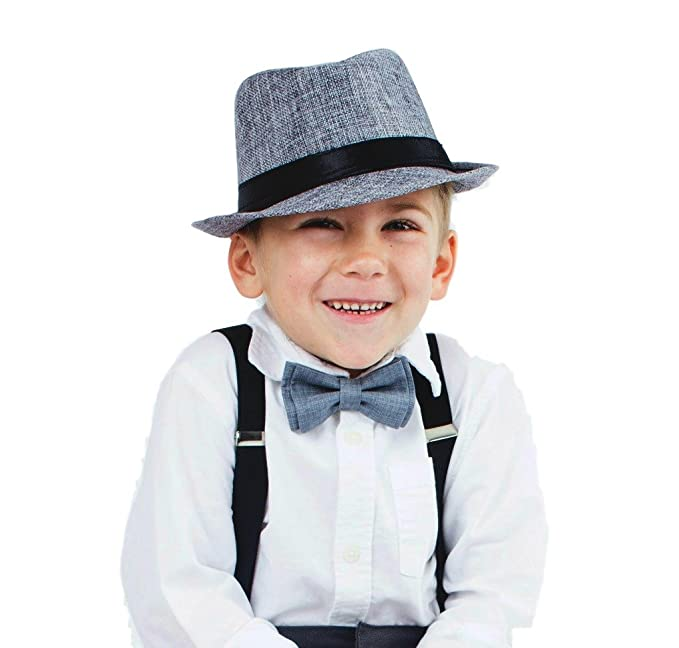 1639ccdb68132 Image Unavailable. Image not available for. Color  Child Grey Fedora Hat