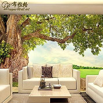 poowef 3d wallpaperfond D el fondo de pantalla los vídeos en pared de grandes árboles transparente sobre el muro sobre el jardín personalizado papel pintado de los murales 3d: Amazon.es: Bricolaje y