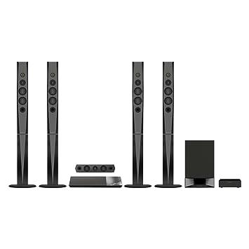 Sony BDV-N9200W - Equipo de Home Cinema 5.1 de 1200W con amplificador S-Master HX (Blu-ray, 3D, 4K Upscale, Hi-Res Audio, USB, HDMI, NFC, Bluetooth, ...