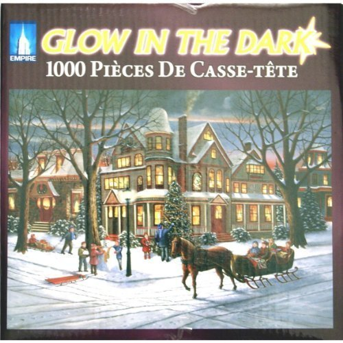 GLOW IN THE DARK Victorian Christmas 1000 Piece Jigsaw Puzzle