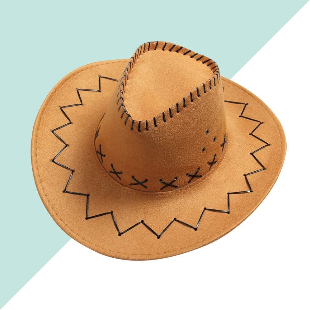 Unisex Breathable Cowboy Hat Summer Outdoor Travel Cowgirl Hat Western Headwear Cap