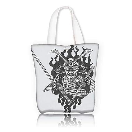 Amazon.com: Canvas Shoulder Hand Bag -W12 x H7.8 x D3 INCH ...
