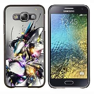 Diseño abstracto- Metal de aluminio y de plástico duro Caja del teléfono - Negro - Samsung Galaxy E5 / SM-E500
