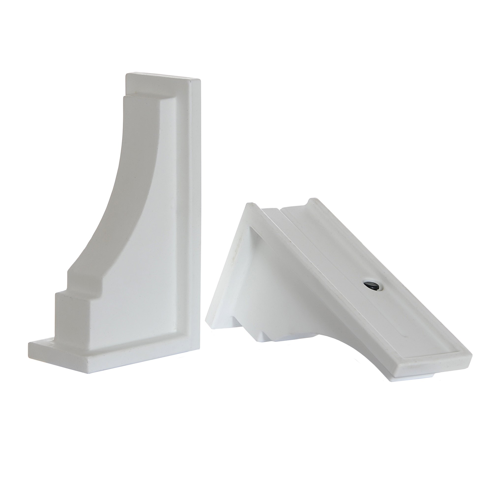 Mayne Inc Fairfield Decorative Brackets, 2-pack, White