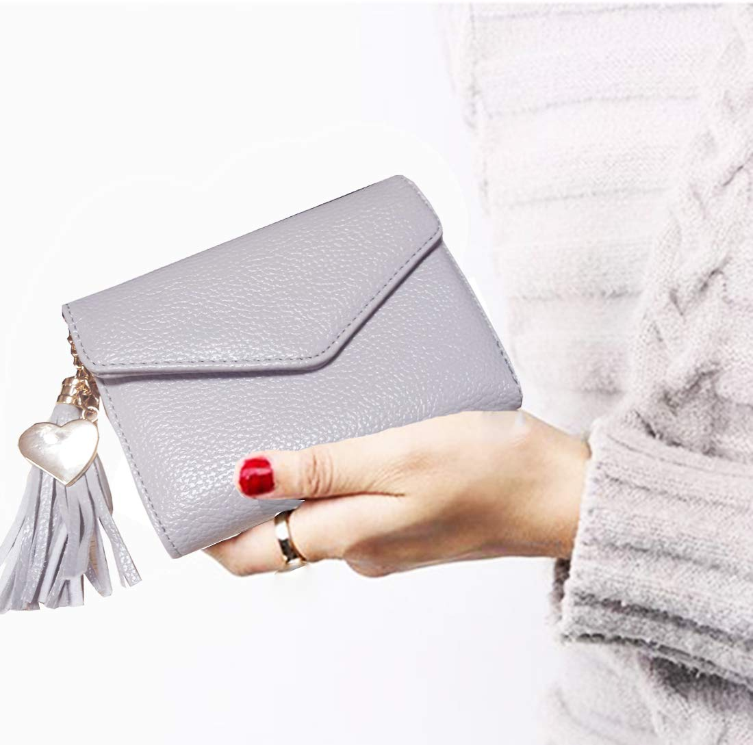 8779654bbe13 30% discount on Women Small Wallet Lady Mini Purse Bifold Leather ...