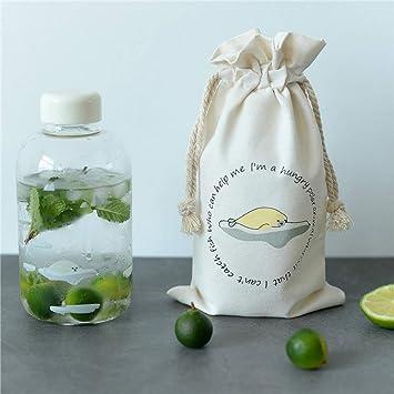 KOONARD Botella de Agua Grande Viajes, Botella de Agua de Cristal con diseño de Animales
