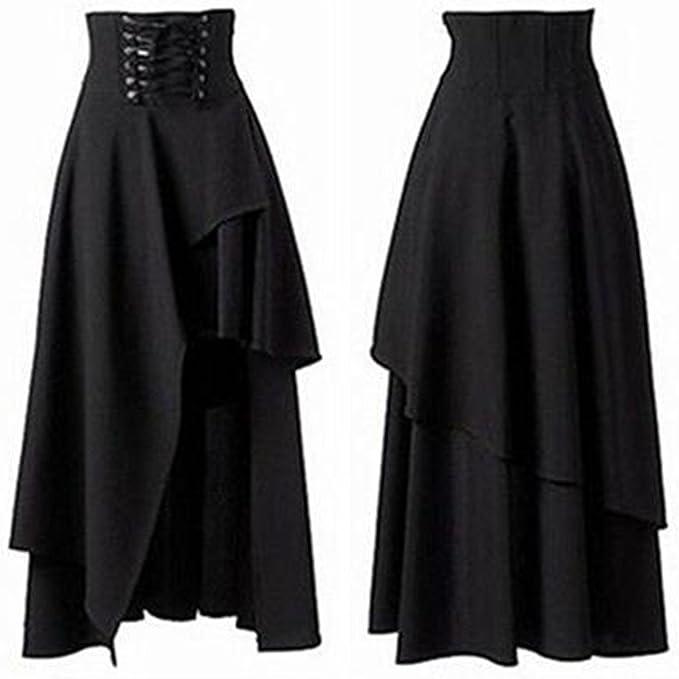 Falda negra estilo gótico, punk, con banda en la cintura, corta ...