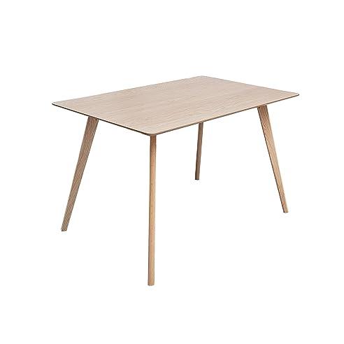 Stylischer Echt Eiche Esstisch HYGGE 120cm Skandinavisches Design  Massivholz Tisch Holztisch Küchentisch Eichenholz