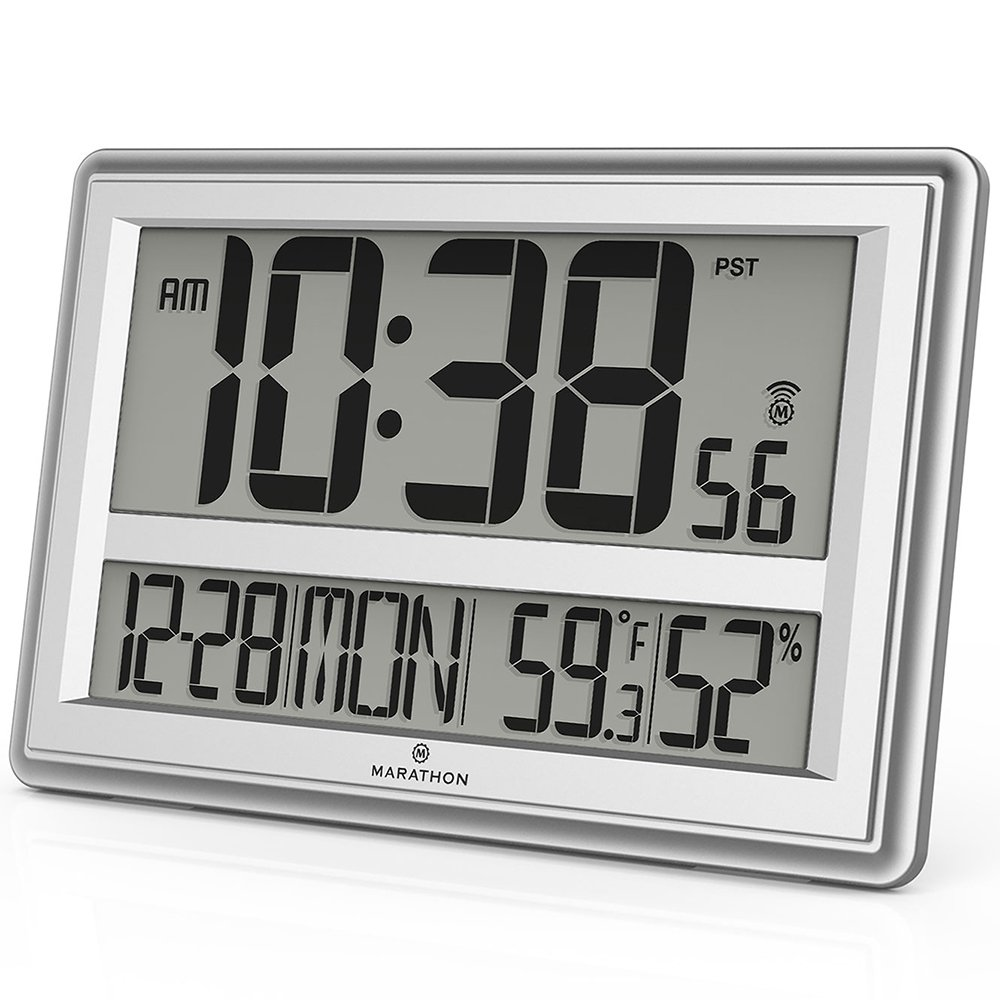 Marathon Cl030056sv Jumbo Atomic Wall Clock With