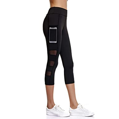 4a0facfc065106 Joyshaper 3/4 Length Leggings for Women with Pockets Cropped Gym Capri  Trousers Yoga Pants