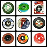 Giant Combo of 9 Pieces :- Grinding Wheels /Discs Suitable for Cutting Wood /Metal /Brick /Marble, Grinding, Polishing and Buffing.