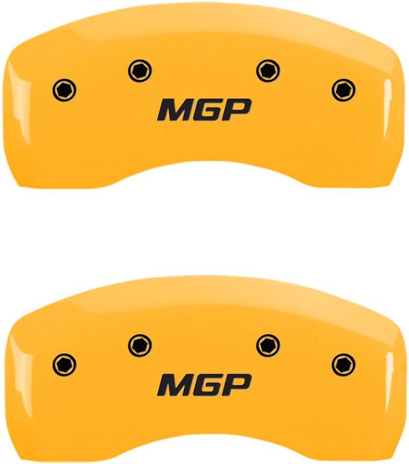 Set of 4 Elite Auto Chrome Yellow MGP Caliper Covers fit for 2015-16 Hyundai Genesis 3.8L Sedan//5.0