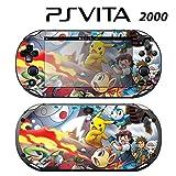 Decorative Video Game Skin Decal Cover Sticker for Sony PlayStation PS Vita Slim (PCH-2000) - Pokemon Pikachu