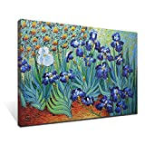 Asdam Art-(100% Hand Painted 3D) Vincent Van Gogh's Painting Branches of an Almond Tree in Blossom Painting on Canvas(24X36inch)