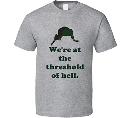 threshold of hell christmas vacation movie quote eds hat quotes t shirt s sport grey