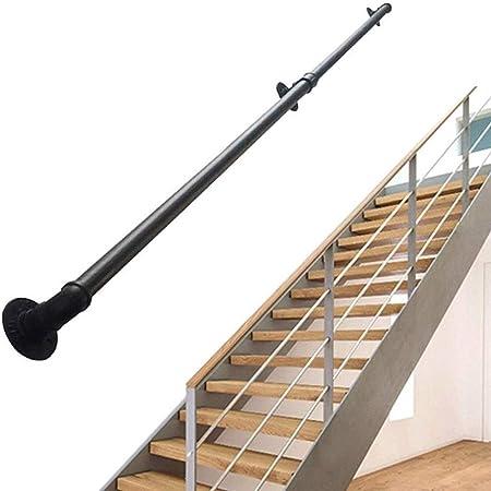 Pasamanos Escalera Vintage Pasamanos - Kit Completo.Los pasamanos de la Escalera for Interiores y Exteriores, 30-600cm barandilla de Seguridad Barandilla Carril de la Ayuda Negro Hierro Forjado: Amazon.es: Hogar