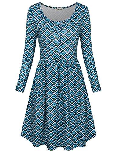 Printed Jersey Tea Dress - 2