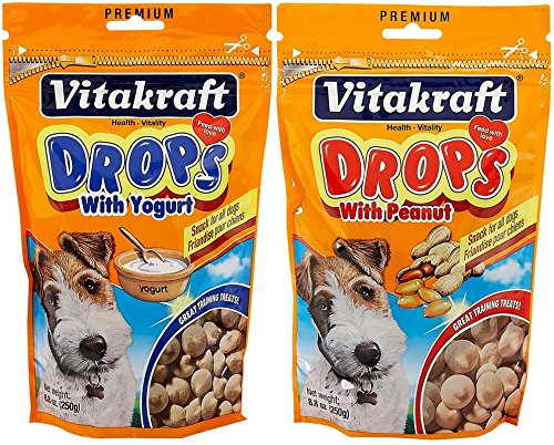(VitaKraft Drops Dog Treat 2 Flavor Combo Pack)