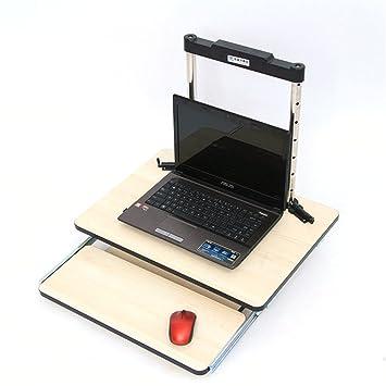 Vogvigo Escritorio Plegable Adjustable para Ordenador portátil Notebook Escritorios y mesas para Ordenador (Beige): Amazon.es: Hogar