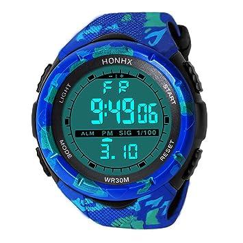 Reloj deportivo digital de moda para hombre al aire libre, relojes militares, resistente al agua, cronómetro, ...