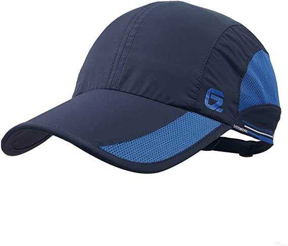 GADIEMKENSD Quick Dry Sports Hat Lightweight Breathable Unstructured Soft Run Cap Unisex