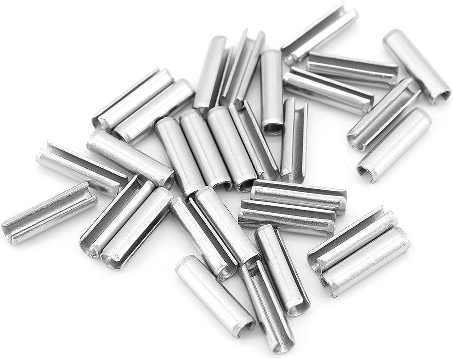 Yuhtech 360 piezas de pasadores de resorte ranurados de acero inoxidable 304 M2 M2.5 M3 Pasadores ranurados de acero inoxidable
