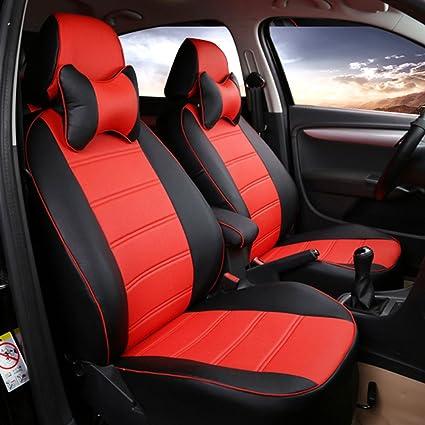 Car seat covers fit Kia Carens full set black red