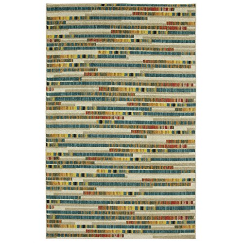 Mohawk Home Z0221 A416 096120 EC Prismatic Stacked Tile Block Striped Printed Contemporary Area Rug, 8'x10', Multicolor 8' Latex Blocks