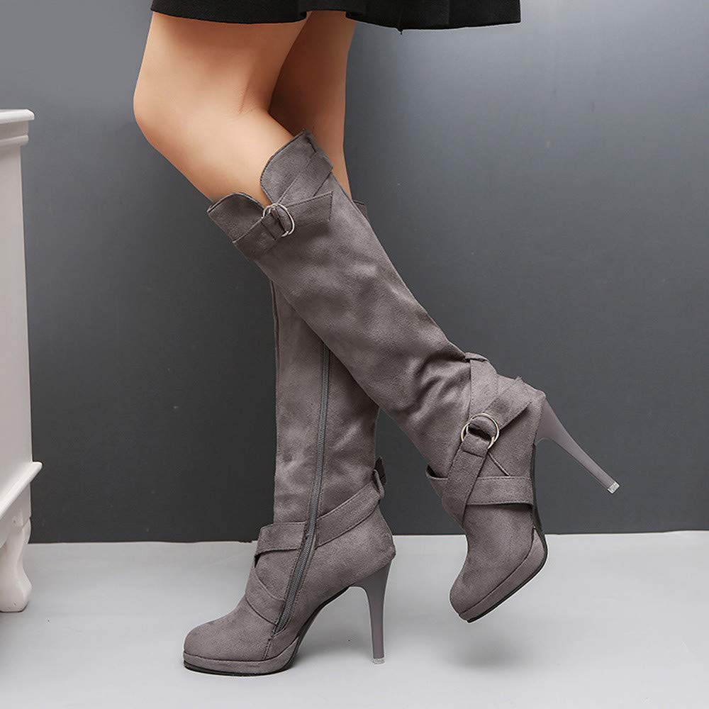 10f2205e5c4c Damen Stiefeletten Boots Xinantime Damenstiefel High Heels Stiefeletten  Martin Stiefel Klassische Freizeitschuhe Casual Boots Mode Einzelne Schuhe  35-43  ...