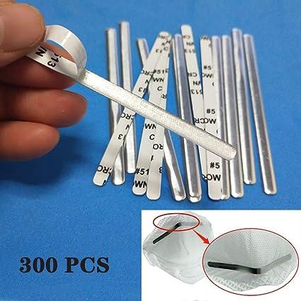 90mm Metal Flat Aluminum Bar Strip Trimming Aluminum Strip for Homemade DIY Making Accessories Crafts Nose Bridge for Mask 100Pcs Flat Mask Aluminum Wire