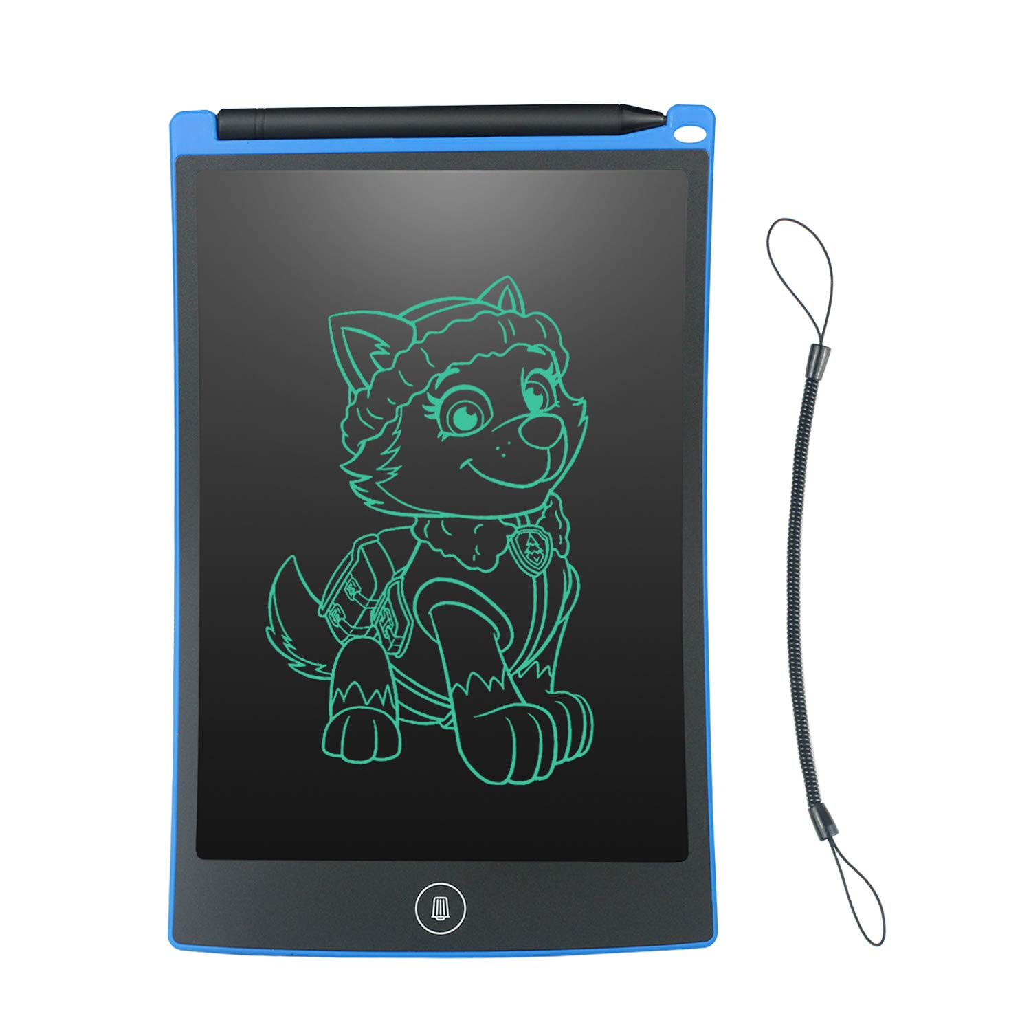 WOBEECO 8.5 Inch LCD Writing Tablet Children Doodle Pad Scribble Toy Family Message Board with 1 Lanyard in Place of Scrap Paper and More