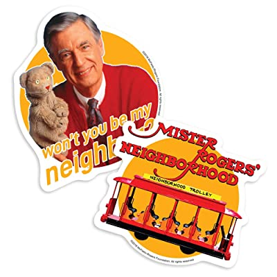 Popfunk Mister Rogers Trolley Logo Collectible Stickers: Home & Kitchen