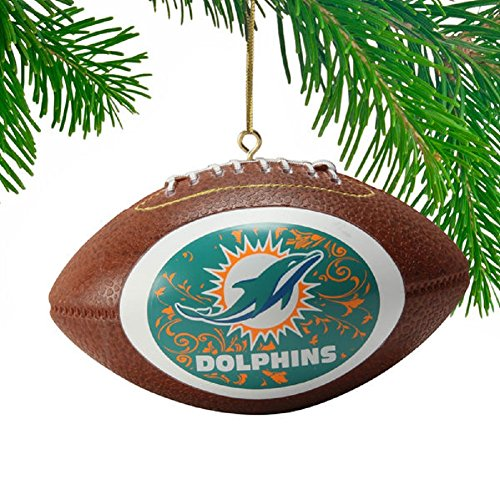 Miami Dolphin Mini-replica Football Ornament-New Logo