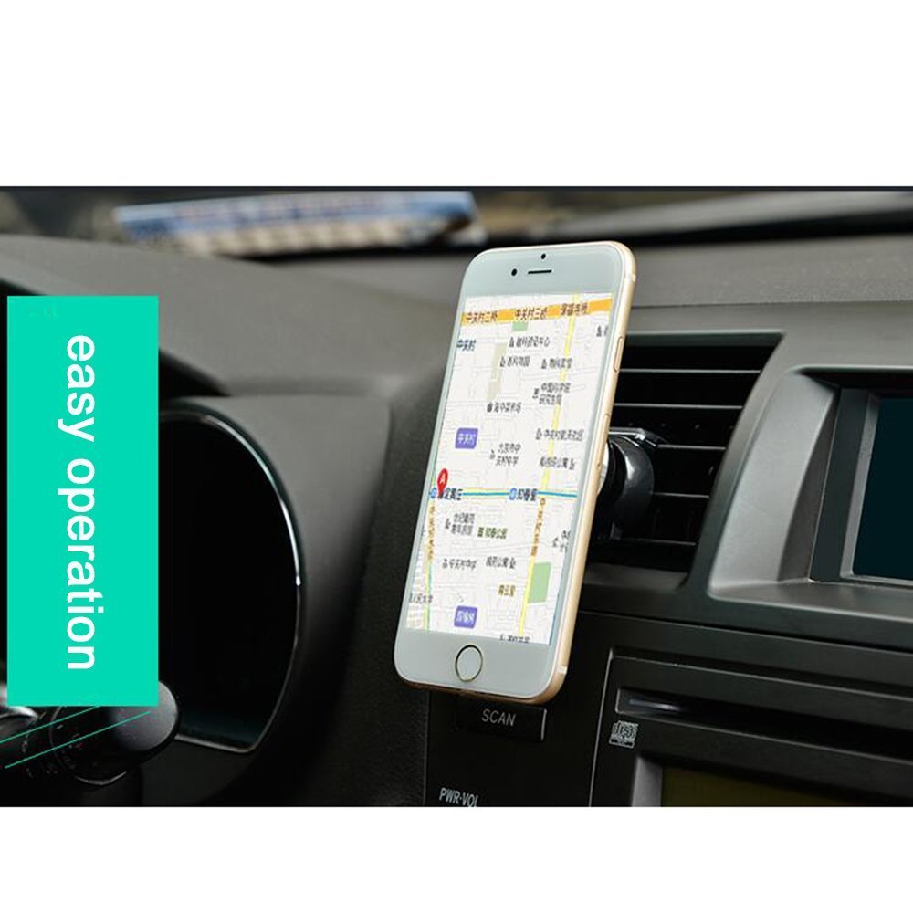 Blue Car Mount,Cyber Roll Air Vent Magnetic Mobile Phone Car Vehicle Holder 360 Degree Rotation Vehicle-mounted Support Compatible with iPhone 6 6S Plus 5 Galaxy S7 S6 edge S5 SONY HTC LG AutoPS-BLUE 4351581274