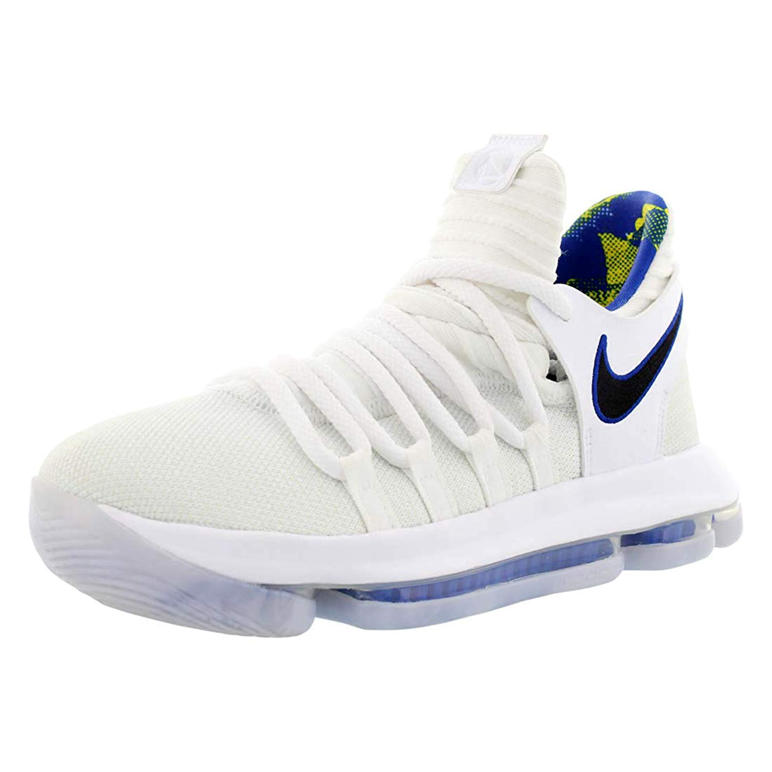 new product 385bc 9fd1d Nike Zoom KD10 LMTD NBA Grade School Basketball Shoes (6 M US Big Kid,  White/Game Royal/University Gold)