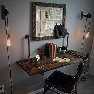 Wall-mounted Table DFVV Mesa de Pared Rústica Industrial,Mesa de ...