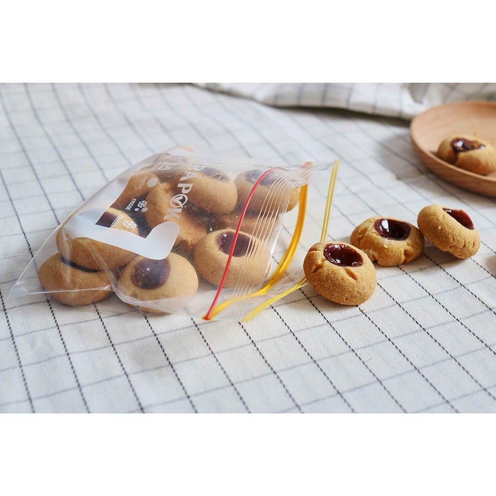 100 conti congelatore a microonde sicuro Borse Snack Zipper Bag di immagazzinaggio di cibo Piccolo 6,3 x 4 pollici
