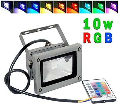 Goodia Foco Proyector LED 10W RGB --16 Colores Impermeable con ...