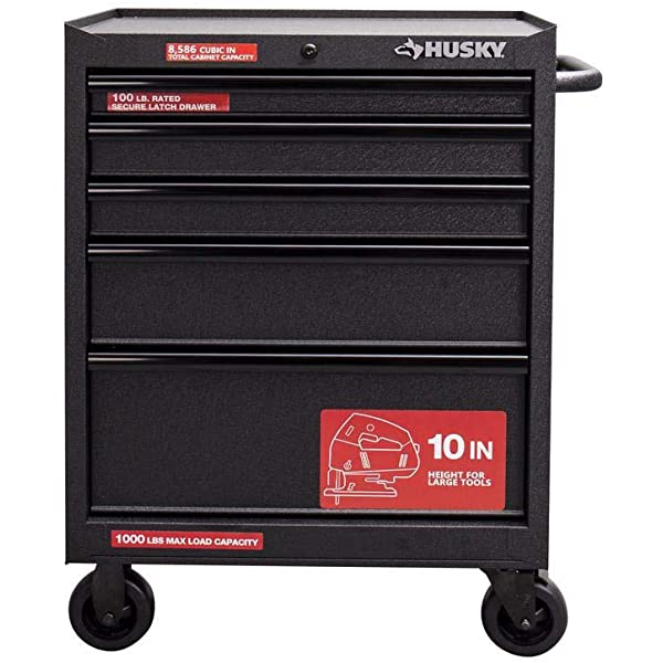 Amazon Com Husky 27 In 5 Drawer Roller Cabinet Tool Chest In