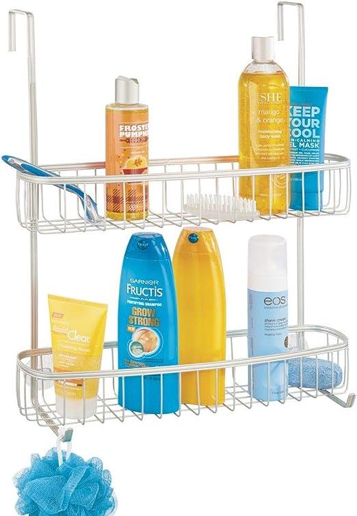 mDesign Estanterías de baño para colgar – Práctico colgador de ...