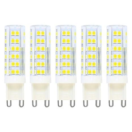 Bombillas LED G9 de 7W,Equivalentes a Lámparas halógenas de 50W, Blanca fría 6000K