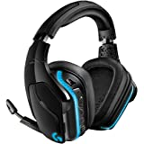 Logitech G935 Wireless DTS:X 7.1 Surround Sound LIGHTSYNC RGB PC Gaming Headset, Black, blue