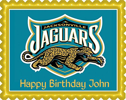 Jacksonville Jaguars (1) - Edible Cake Topper - 10