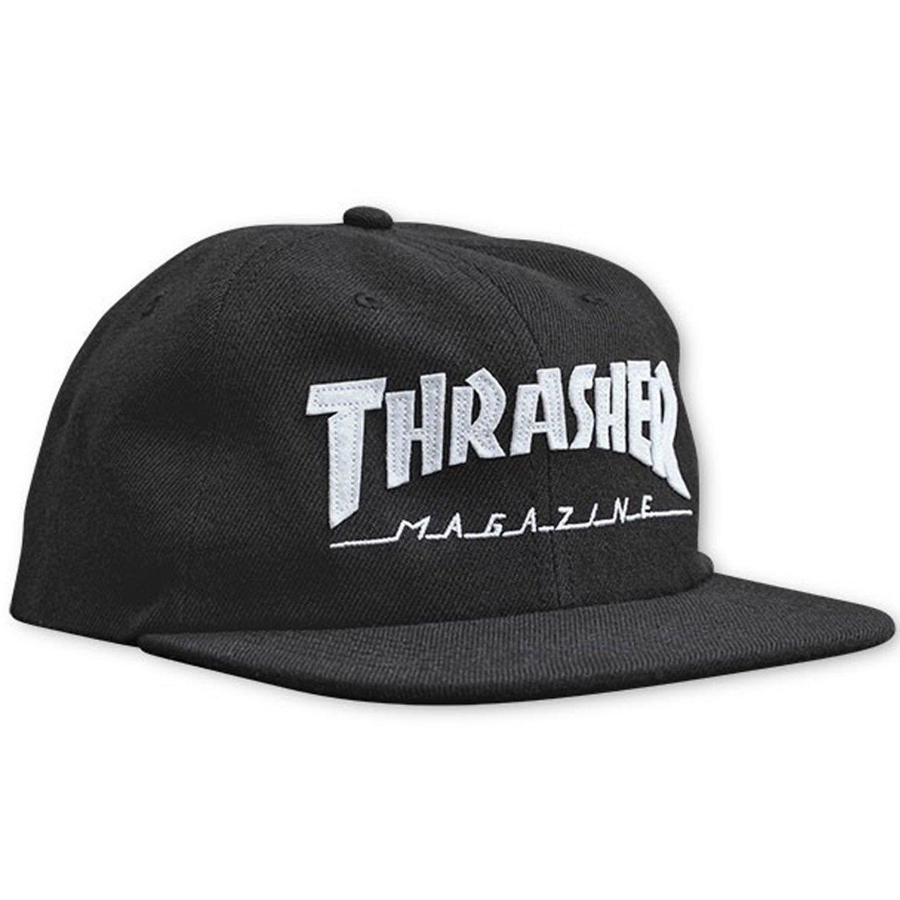 392dda6f2802af Amazon.com: Thrasher Magazine Logo Felt Snapback Mens Style:  THRA-144492-BLACK Size: One Size: Shoes